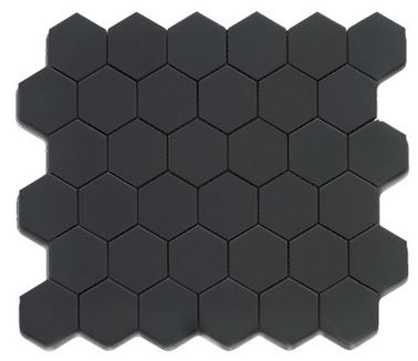 Alameda black-matte-2-inch-hexagons