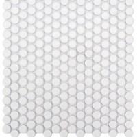White Ceramic Mosaics Porcelain Pennyrounds