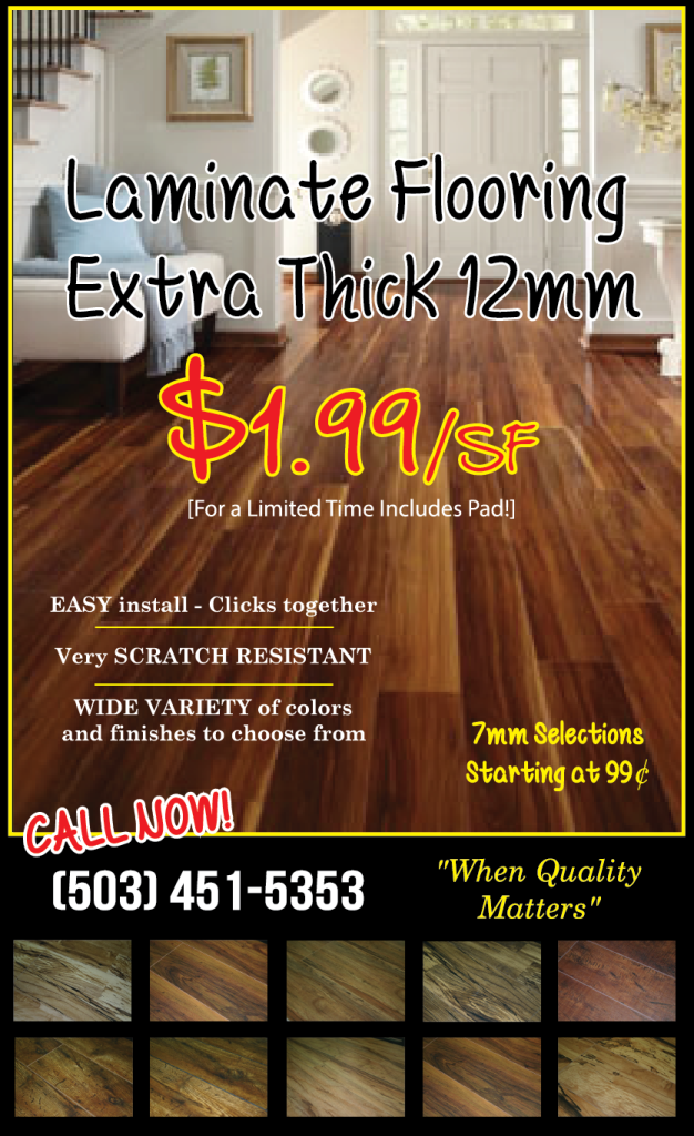 12mm laminate flooring sale oregon city carpet oregon for Laminate flooring sale