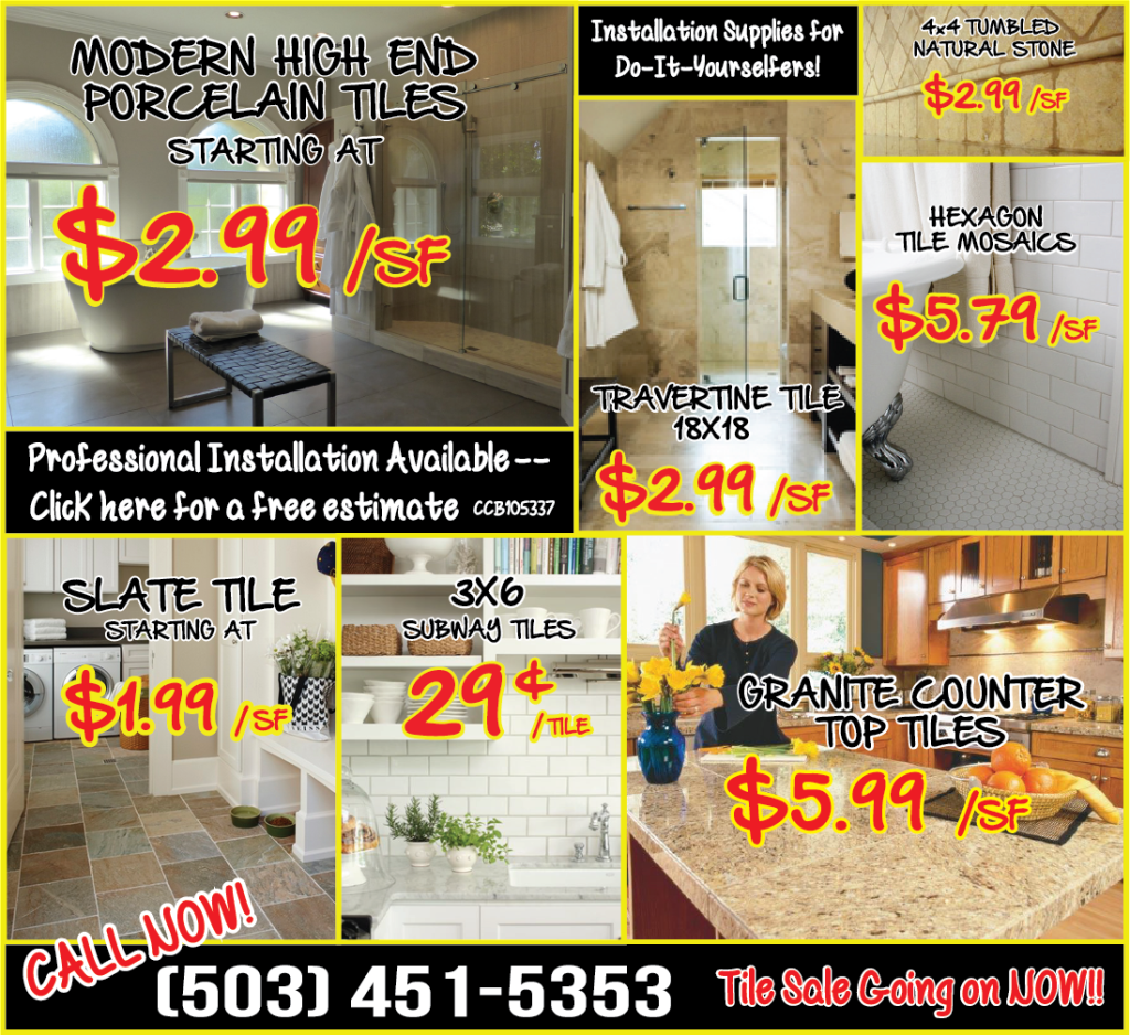 Tile Sale Oregon City Carpet Oregon City Flooring - Bulk tile sale