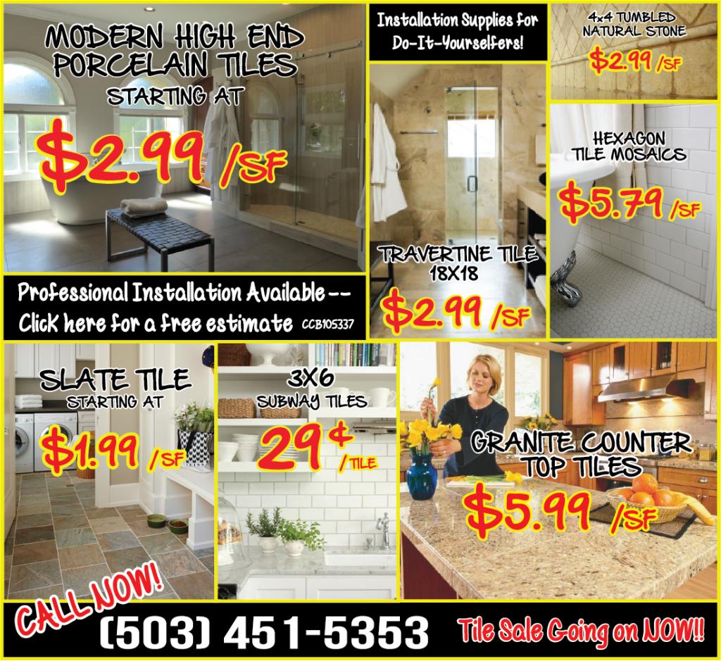 Tile Sale Oregon City Carpet Amp Oregon City Flooring