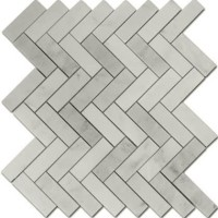 Carrara Marble Herringbone 1x3 Honed