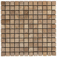 Noce Tumbled 1x1 Travertine
