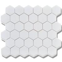 2 inch white hexagon porcelain mosaics