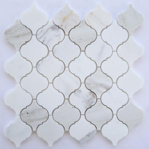 Calacatta Marble HONED  Arabesque Lantern Mosaics