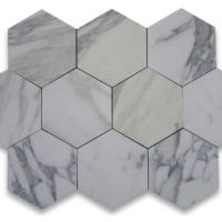 1x1 Hexagon Calacatta Marble Polished