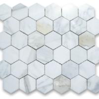 2x2 Hexagon Calacatta Marble Polished