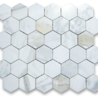 2x2 Calacatta Marble Polished Mosaics