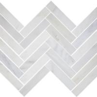 1.5x6 Honed Ocean White Marble