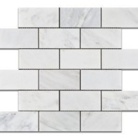 2x4 Honed Ocean White Marble