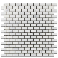 Mini Bricks Honed Ocean White Marble